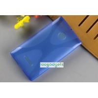 Силиконовый X чехол для Microsoft Lumia 435 Синий