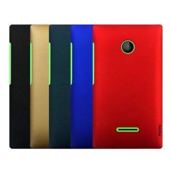 Пластиковый матовый непрозрачный чехол для Microsoft Lumia 435
