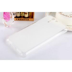 Силиконовый матовый полупрозрачный чехол для ASUS Padfone S Белый