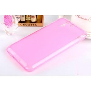Силиконовый матовый полупрозрачный чехол для ASUS Padfone S Розовый
