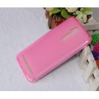Силиконовый матовый полупрозрачный чехол для Asus Zenfone 2 Розовый