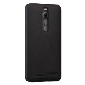 Пластиковый матовый непрозрачный чехол для Asus Zenfone 2 Черный