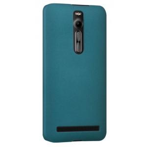 Пластиковый матовый непрозрачный чехол для Asus Zenfone 2 Зеленый