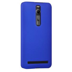 Пластиковый матовый непрозрачный чехол для Asus Zenfone 2 Синий