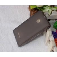 Силиконовый матовый полупрозрачный чехол для Microsoft Lumia 532 Черный