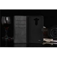 Чехол портмоне-подставка с отделениями для LG Optimus G3 Черный