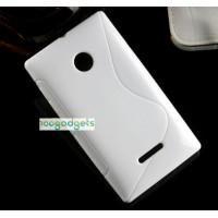 Силиконовый S чехол для Microsoft Lumia 532 Белый