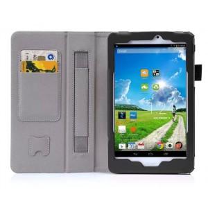 Чехол подставка с рамочной защитой экрана, поддержкой кисти и внутренними отсеками для Acer Iconia Tab 8W