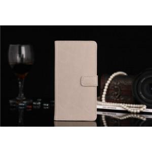 Чехол портмоне-подставка с отделениями для LG Optimus G3 Бежевый
