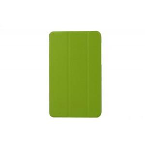 Чехол флип подставка сегментарный на пластиковой основе для Acer Iconia Tab 8W Зеленый