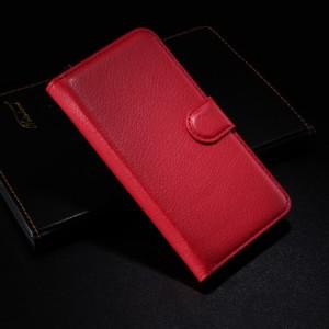 Чехол портмоне подставка с защелкой для Alcatel One Touch Idol 2 Красный