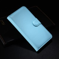 Чехол портмоне подставка с защелкой для Alcatel One Touch Idol 2 Голубой