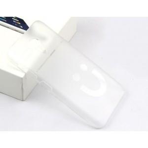 Пластиковый матовый полупрозрачный чехол с поверхностным рисунком Смайл для Lenovo A606