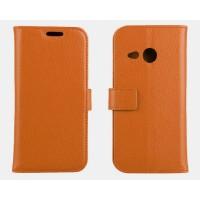 Чехол кошелек с подставкой для HTC One mini 2 Бежевый