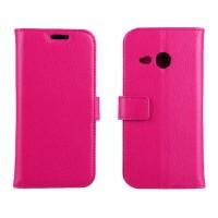 Чехол кошелек с подставкой для HTC One mini 2 Пурпурный