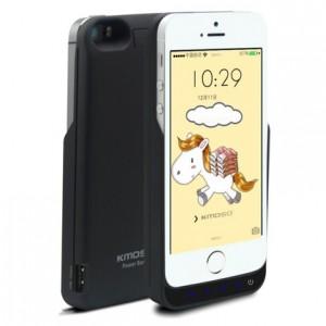 Пластиковый чехол/экстра аккумулятор (4200 мАч) с функцией дополнительного заряда внешних устройств для Iphone 5/5s/SE Черный