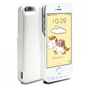 Пластиковый чехол/экстра аккумулятор (4200 мАч) с функцией дополнительного заряда внешних устройств для Iphone 5/5s/SE Белый