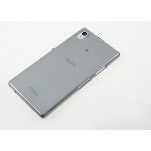 Силиконовый глянцевый полупрозрачный чехол для Sony Xperia Z1 Черный