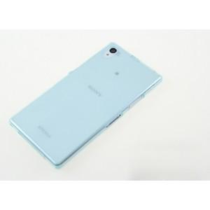 Силиконовый глянцевый полупрозрачный чехол для Sony Xperia Z1 Голубой