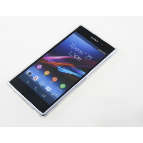 Силиконовый глянцевый полупрозрачный чехол для Sony Xperia Z1