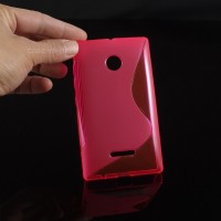Силиконовый S чехол для Microsoft Lumia 435 Пурпурный
