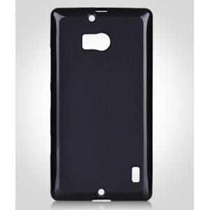 Силиконовый матовый полупрозрачный чехол для Nokia Lumia 930 Черный