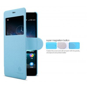 Чехол флип с окном вызова и магнитной застежкой серия Colors для ZTE Nubia Z7 Mini