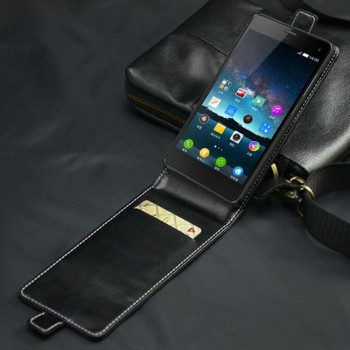 Кожаный чехол вертикальная книжка на пластиковой основе с магнитной застежкой для ZTE Nubia Z7 Mini