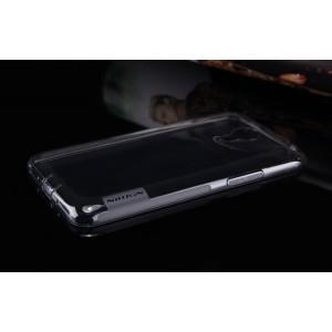 Силиконовый ультратонкий матовый полупрозрачный чехол с нескользящими гранями для Meizu M1 Note Серый