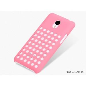 Пластиковый дизайнерский чехол с отверстиями для Meizu M1 Note Розовый