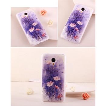 Пластиковый матовый дизайнерский чехол с принтом для Meizu M1 Note