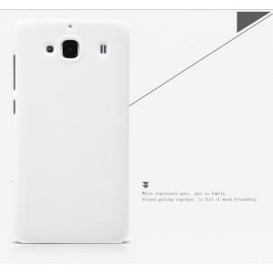 Пластиковый матовый нескользящий премиум чехол для Xiaomi RedMi 2 Белый