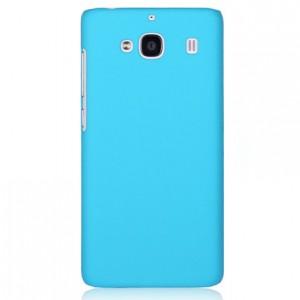 Пластиковый матовый непрозрачный чехол для Xiaomi RedMi 2 Голубой