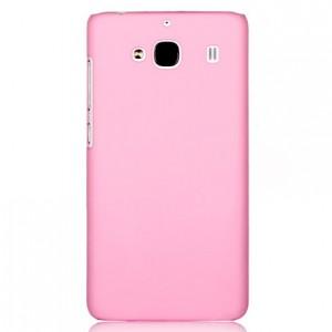 Пластиковый матовый непрозрачный чехол для Xiaomi RedMi 2 Розовый