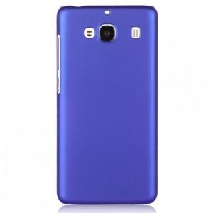 Пластиковый матовый непрозрачный чехол для Xiaomi RedMi 2 Синий