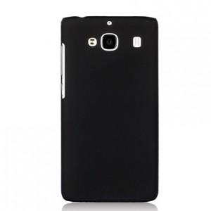 Пластиковый матовый непрозрачный чехол для Xiaomi RedMi 2 Черный