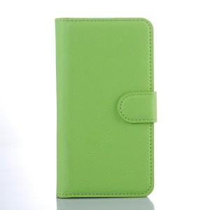 Чехол портмоне подставка с защелкой для Xiaomi RedMi 2 Зеленый