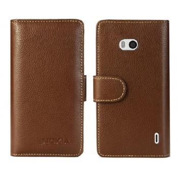 Чехол портмоне из нат. кожи с магнитной защёлкой для Nokia Lumia 930