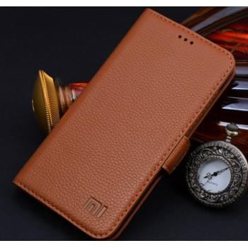 Кожаный чехол портмоне (нат. кожа) для Xiaomi RedMi 2