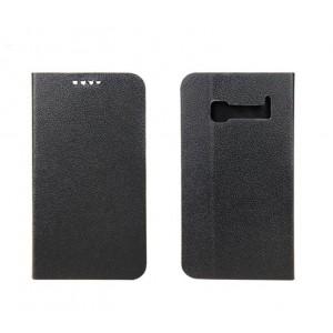 Чехол флип подставка с отделением для карт на пластиковой основе для Alcatel One Touch Pop C5