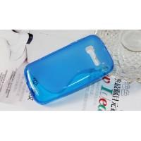 Силиконовый S чехол для Alcatel One Touch Pop C5 Синий