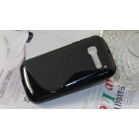 Силиконовый S чехол для Alcatel One Touch Pop C5 Черный