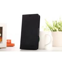 Текстурный чехол флип с дизайнерской застежкой для Xiaomi RedMi Note Черный