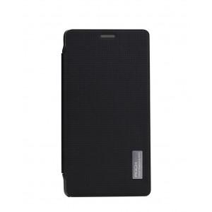 Чехол флип на пластиковой основе серия Crystal Rear для Xiaomi RedMi Note Черный