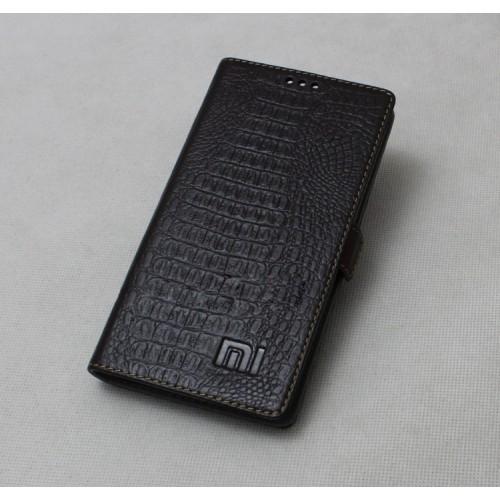 Кожаный чехол портмоне (нат. кожа крокодила) для Xiaomi RedMi Note