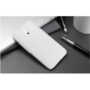 Пластиковый чехол серия Metallic для HTC Desire 210 Белый
