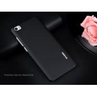 Пластиковый непрозрачный Металлик чехол для Xiaomi Mi Note Черный
