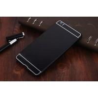Двухкомпонентный чехол с металлическим бампером и поликарбонатной накладкой для Xiaomi Mi Note Черный