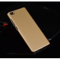 Пластиковый матовый непрозрачный чехол для Xiaomi Mi Note Бежевый
