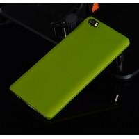 Пластиковый матовый непрозрачный чехол для Xiaomi Mi Note Зеленый